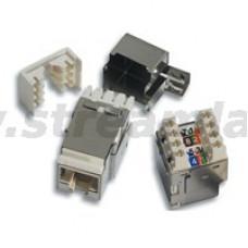 N420.426 Модуль универсальный Nexans Essential-5, snap-in, LSA/110, 1хRJ45, кат. 5e, экр.