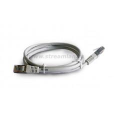 ST 125FP 005 1 Шнур коммутационный, экр., RJ45/RJ45, кат. 5e, PVC, 0.5м, серый