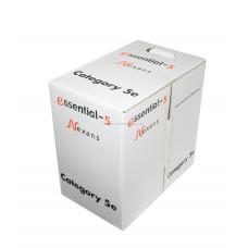 N100.561 Кабель Nexans Essential-5, U/UTP, 4 пар., кат. 5e, PVC, 305м, коробка, цвет: светло-серый