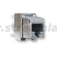 N420.555 Модуль универсальный Nexans LANmark-5, snap-in, 1хRJ45, кат. 5e, экр.
