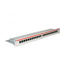 """N500.215 Коммутационная панель Nexans LANmark-5, 19"""", 1HU, 24x RJ45, кат. 5e, PCB, экр., цвет: белый"""