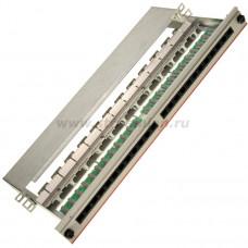 """N500.105 Коммутационная панель Nexans LANmark-5, 19"""", 1HU, 24x RJ45, кат. 5e, PCB, неэкр., выдвижная, цвет: белый"""