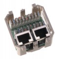 Модуль розеточный Nexans LANmark-5, 45x45, 2хRJ45, кат. 5e, PCB, экр., цвет: белый