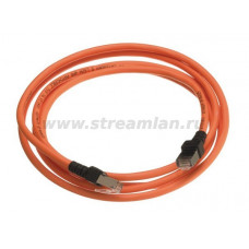 N115.P1B010OU Шнур коммутационный Nexans LANmark-5, экр., RJ45/RJ45, кат. 5e, LSZH, 1м, оранжевый